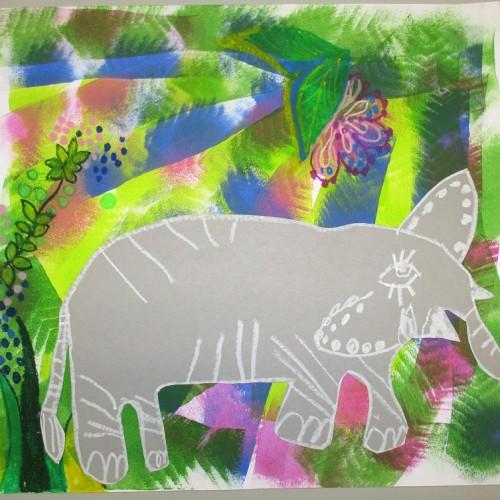 Slon V Džungli
